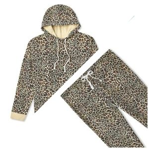 NWT Leopard Print Tracksuit Two Piece 2X